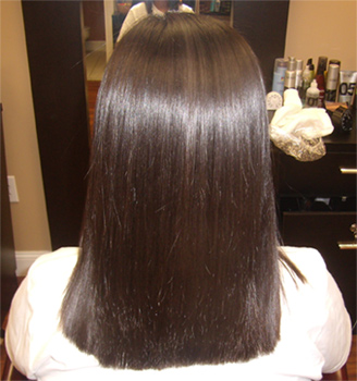 keratin complex hair therapy - AFTER