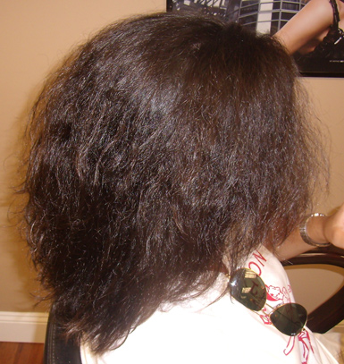 keratin complex hair therapy - BEFORE